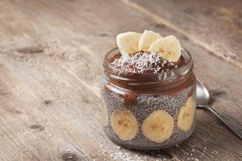 schoko chia pudding banane bremer gewuerzhandel