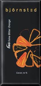Björnsted Dark Orange 70% Feine Bitter Orange Schokolade