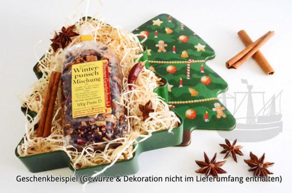 Geschenkdose, Keksdose Weihnachtsbaum, 220 x 180 x 40 mm
