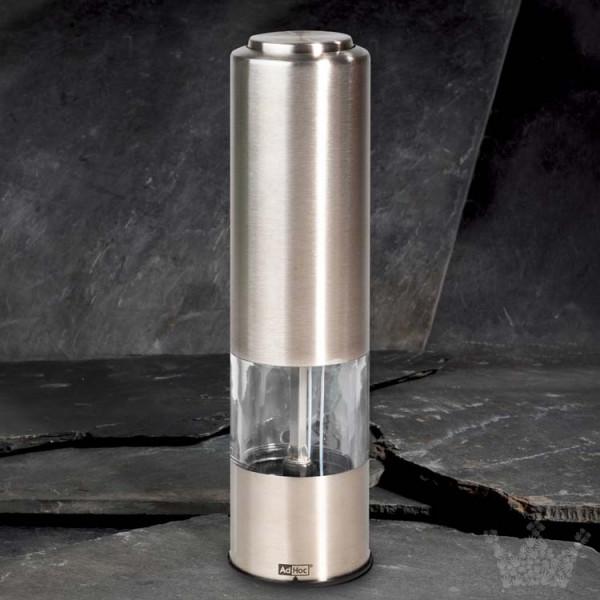 AdHoc Pepmatik, 19 cm, elektrisch, Edelstahl, Pfeffer- oder Salzmühle