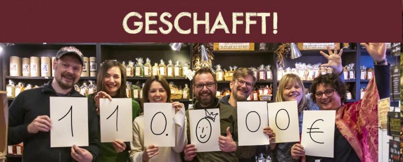 100000 euro geknackt