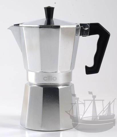 Espressokocher Classico 6 Tassen, Aluminium