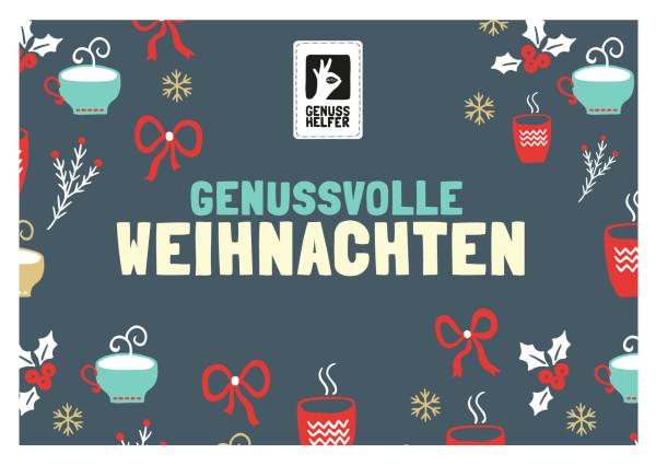 Gutschein zum Ausdrucken über 50 EUR Weihnachten dunkel