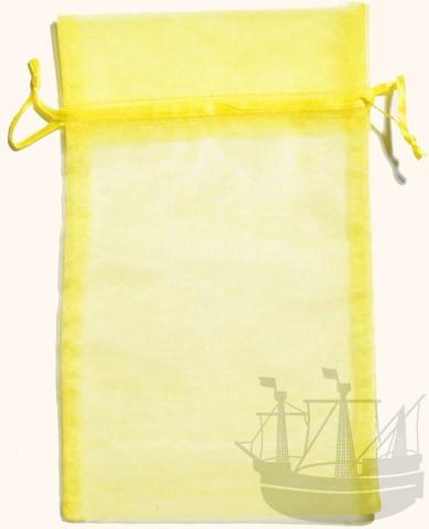 Organzabeutel, Geschenkverpackung, 23x15 cm, gelb