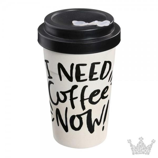 Eco Coffee To Go Becher, need coffee, Zassenhaus