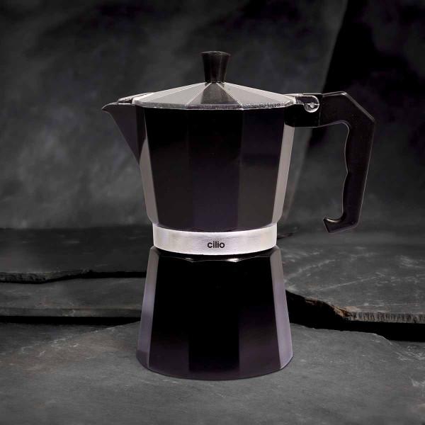 Cilio Espressokocher Classico, 6 Tassen, schwarz