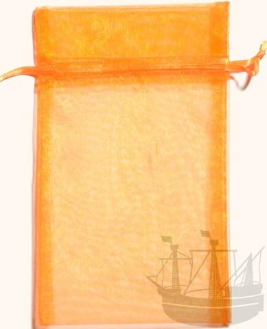 Organzabeutel, Geschenkverpackung, 20x12 cm, orange
