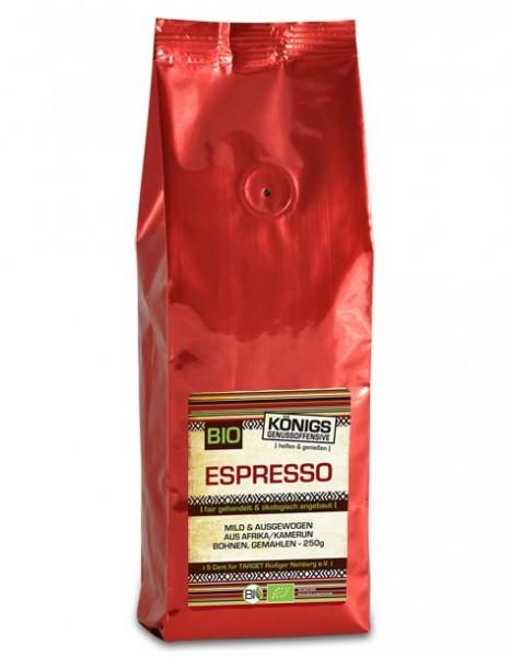 Espresso, mild, BIO, gemahlen