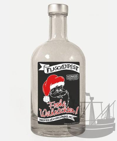 Flaschenpost, Weihnachtsmann, Frohe Weihnachten, 500ml