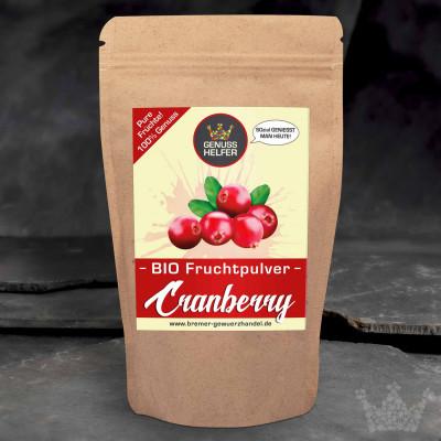 BIO Fruchtpulver Cranberry