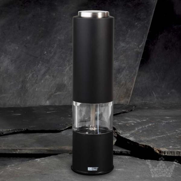 Elektrische Pfeffer- oder Salzmühle Tropica, 20 cm, schwarz