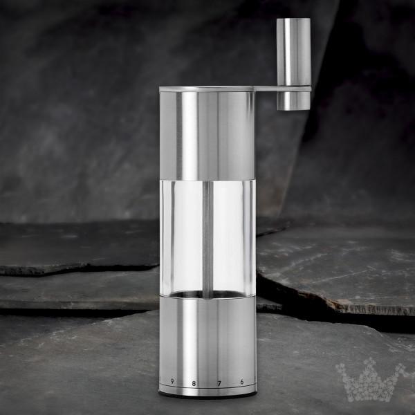 AdHoc Kurbelmühle Select, Pfeffer- und Salzmühle, Edelstahl / Acryl