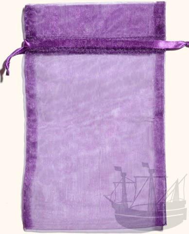 Organzabeutel, Geschenkverpackung, 20x12 cm, violett