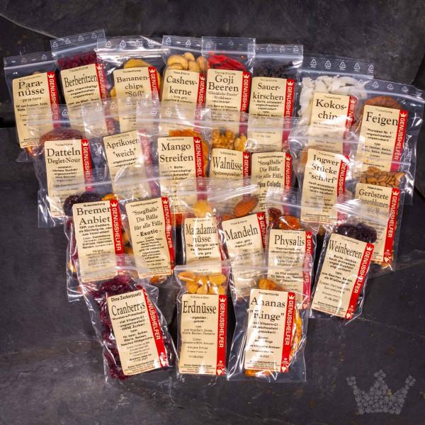 Adventskalender-Set Nüsse u. Früchte, 24 Teile, zum Selbstbefüllen