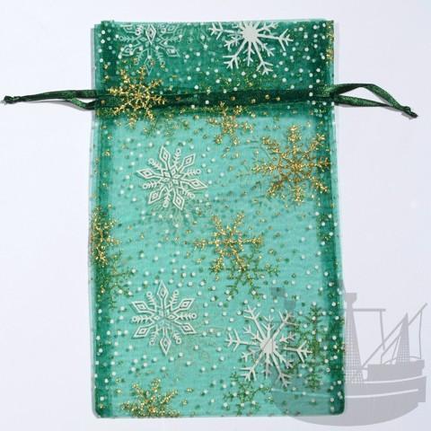 Organzabeutel, Weihnachten, 20x13 cm, grün